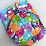 Baby Bum Boutique Basics - Bright Owls - Bamboo charcoal nappies